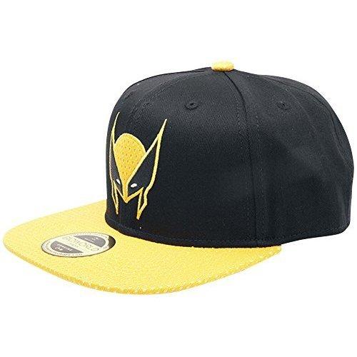 3d6a1b9931f Meroncourt Marvel Comics X-Men Wolverine Mask Snapback Black Yellow  (Sb097583Xmn) Baseball Cap