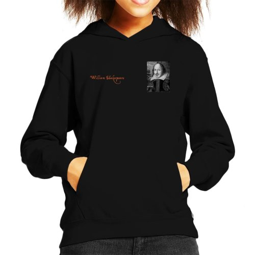 A.P.O.H William Shakespeare Black And White Portrait Kid's Hooded Sweatshirt