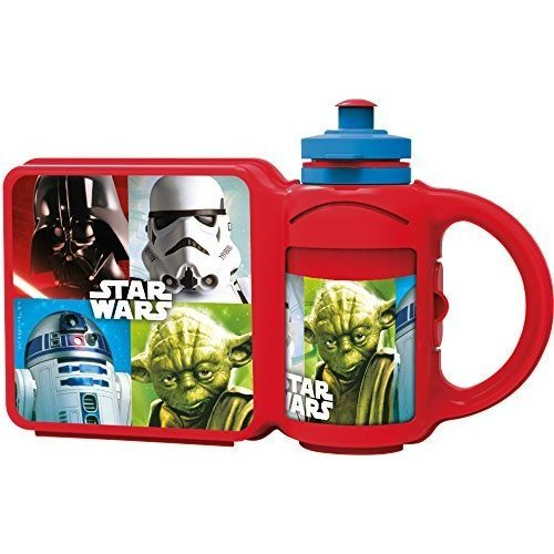 * St152 - Combo Set - Star Wars - Lunch Box Bottle Kids School Sports Water -  lunch box star wars combo set bottle kids school sports water 400ml