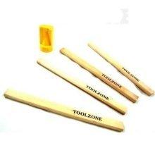 T/zone 4pc Carpenters Pencil & Sharpener