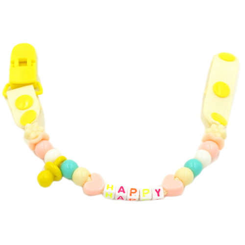 Baby Pacifier Leashes/Cases Special Pacifier Clips Pacifier Holder Yellow Happy