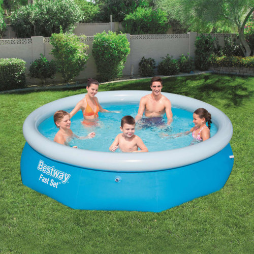 Bestway Fast Set Inflatable Swimming Pool Round 305x76cm Summer Water Centre