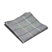 2 Pieces Of Cotton Hand Towel Handkerchief Pocket Towel, GRAY