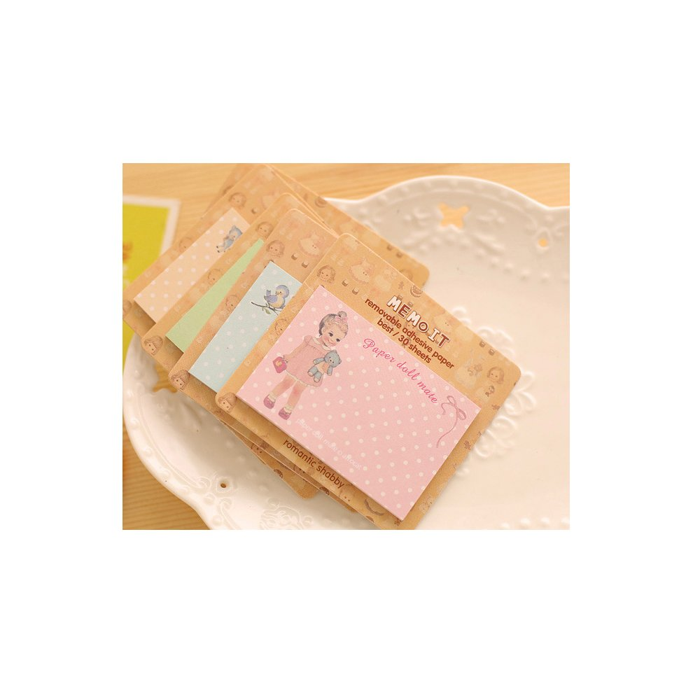 Vintage style girls cute sticky notes (Assorted 5 pk)