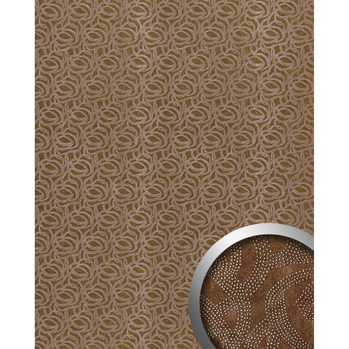 WallFace 14302 ELEGANZA Wall panel leather decor eyecatch brown silver 2.60 sqm