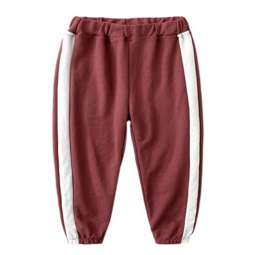 Comfortable Soft Children's Trousers, Wine Red And White