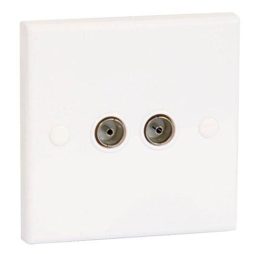 Philex Twin Flush TV Aerial Socket