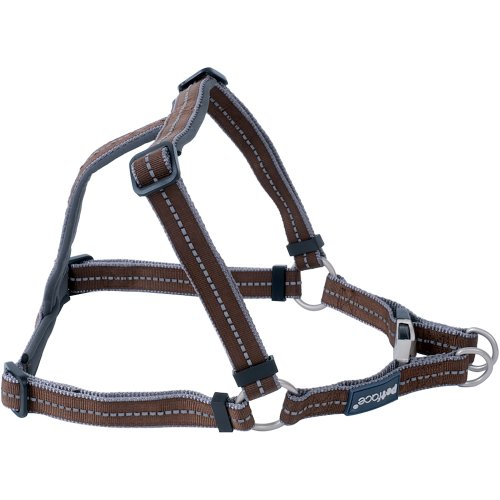 """Petface Signature Padded Harness 19.75"""" To 25.625""""-Small-Brown"""