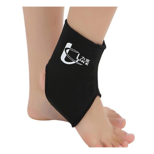 1 Pcs Breathable Ankle Foot Brace Support Pad Free Size BLACK