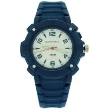 Cannibal Active Boys White Dial Luminous Hands Blue Plastic Strap Watch CJ242-05