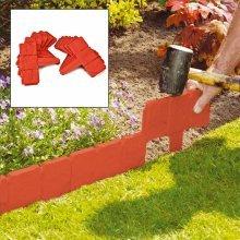 10 X Parkland Terracotta Cobbled Stone Effect Garden Lawn Edging Plant Border