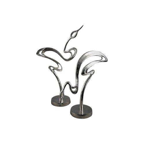 Libra Lumina Set Of Two Cranes Sculpture Ornament Statue Decoration