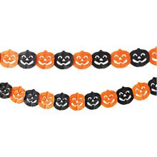 2PCS Halloween Pumpkin Garland Creative House Party Decor 30CM