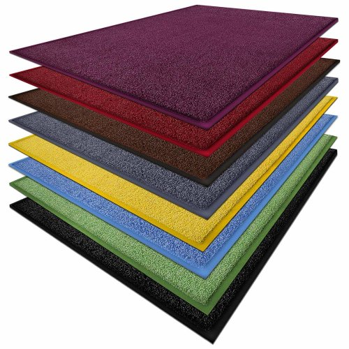 Sky Color doormat in bright colours, dirt-trap mat with rubber edge in matching colour - very good dirt catching effect, in wheat green, polyamide,...