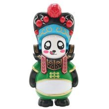 Chinese Opera Face Changing Doll Sichuan Opera Figure Toy, Cloak, Green
