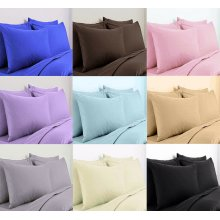 200 Thread Egyptian Cotton Hotel Quality Pillow Case Pair Pillow in Colors
