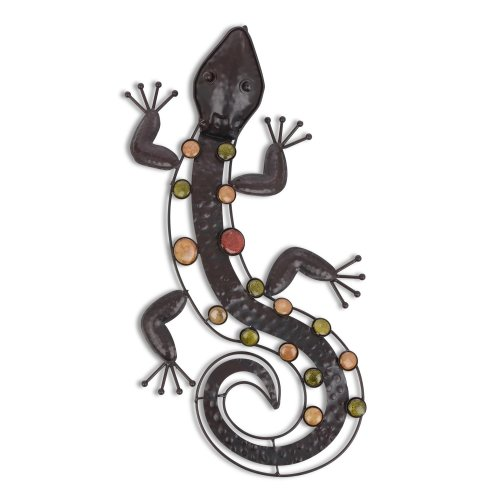 Metal Lizard Wall Art Feature for Garden & Home