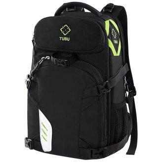 TUBU Professional Camera Laptop Backpack Bag for 2 Pro-sized DSLR / SLR Camera, 3-5 Lenses, 15.6 inch Laptop for Canon, Nikon, Sony, Panasonic,...