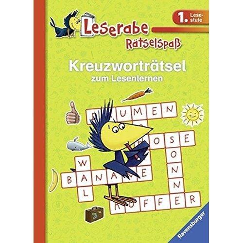 Kreuzworträtsel zum Lesenlernen (1. Lesestufe), grün