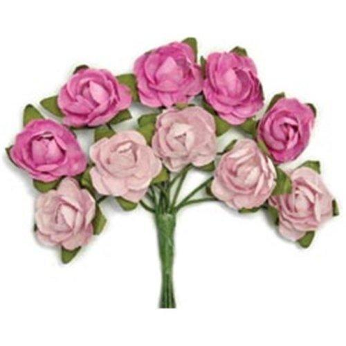 272343 Mini Paper Blooms-Fuchsia